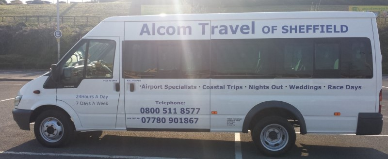 Alcom Travel Minibus - airport travel, wedding travel, race day transport